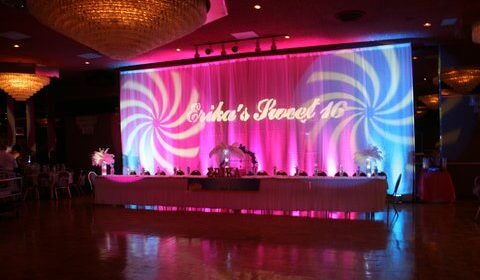 super sweet sixteens personalized draped wall