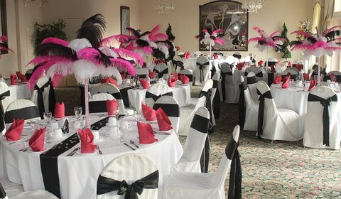 super sweet sixteens creates custom feather centerpieces