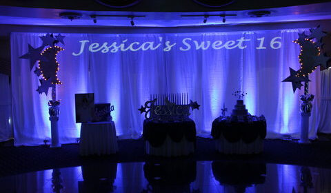 super sweet sixteens creates custom personalized stage backdrops