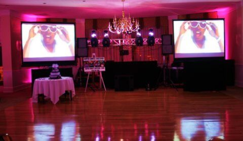 super sweet sixteens dj and video setups for parties