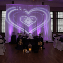 gobo name in lights long island ny wedding event hall